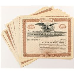 Sheriff Gold Mining Company Stock Certificates (34)