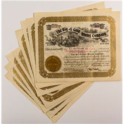 Big 4 Gold Mining Company Stock Certificates (7)