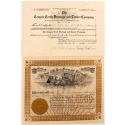 Two Different Cripple Creek Mining Stock Certificates