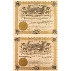 Merrimac Consolidated Mines Company Stock Certificates (2)