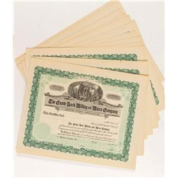 Castle Rock Milling & Mines Stock Certificates (15)