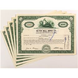 Silver Bell Mines Co. Stock Certificates (6)