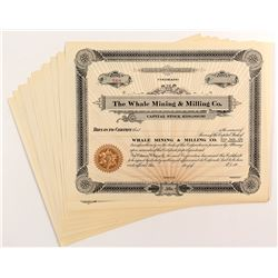 Whale Mining & Milling Co. Stock Certificates (19)