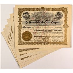 Boston-Colorado Copper Company Stock Certificates (9)