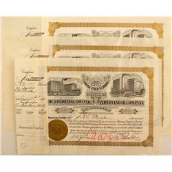 The Colorado Milling and Elevator Company Stock Certificates (3)