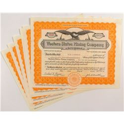 Western States Mining Company Stock Certificates (6)