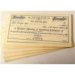 73 Niagara Mining and Smelting Company Stock Certificates