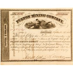 Fulton Mining Company Stock Certificate (1853)