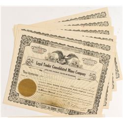 Legal Tender Consolidated Stock Certificates (7)