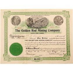 Golden Rod Mining Company Stock Certificate