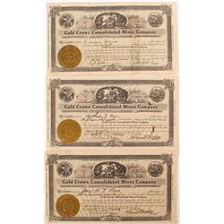Gold Crown Consolidated Mines Company Stock Certificates