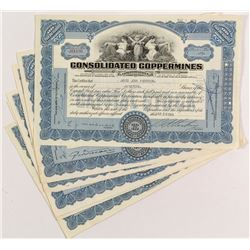 Consolidated Coppermines Stock Certificates (6)