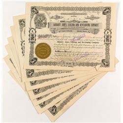 January Jones Leasing and Development Stock Certificates (10) signed by Jones