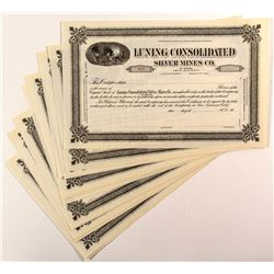 Luning Consolidated Silver Mines Co. Certificates (15)