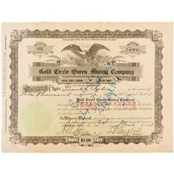 Gold Circle Queen Mining Co. Stock Certificate