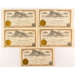 Lahontan Mines Company Stock Certificates (5)