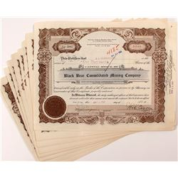 Black Bear Consolidated Mining Company Stock Certificates (21)