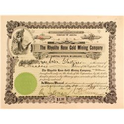 The Rhyolite Rose Gold Mining Company Certificate