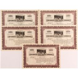 Spearhead Gold Mining Company Reorganized Stock Certificates (5)