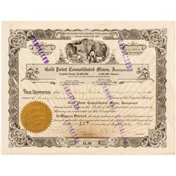 Gold Point Consolidated Mining Stock Certificate (Grass Valley, CA)