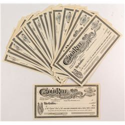 Gold Reef Consolidated Gold & Silver Stock Certificates (50+)