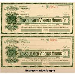 Consolidated Virginia Mining Company Stock Certificates (17)