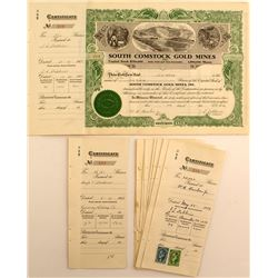 South Comstock Gold Mines Stock Certicates (7)