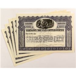 Yerington Mountain Copper Company Stock Certificates (5)