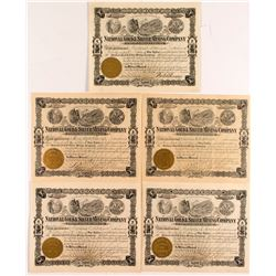 National Gold and Silver Mining Company Certificates