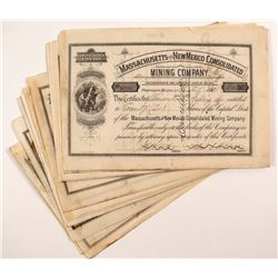 Massachusetts and New Mexico Consolidated Mining Company Stock Certificates (28)