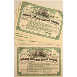 Cleveland and Pittsburgh Railroad Company Stock Certificates (31)