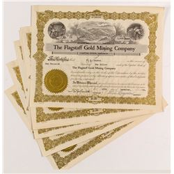 Flagstaff Gold Mining Stock Certificates (5)