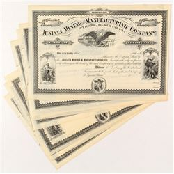 Juniata Mining and Manufacturing Stock Certificates (6)