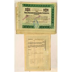31 Pittsburgh-Idaho Company Stock Certificates