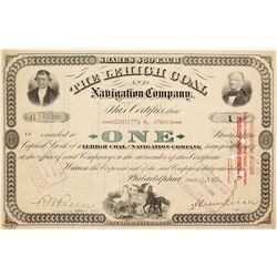 LeHigh Coal and Navigation Company Stock Certificate