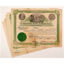 Kirby Furnace Smelting and Refining Company Stock Certificates