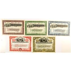 Park City Mining and Smelting Stock Certificates