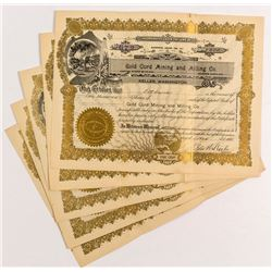 Gold Cord Mining and Milling Stock Certificates (5)