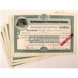 Pocahontas Consolidated Company Stock Certificates (Coal Mine)