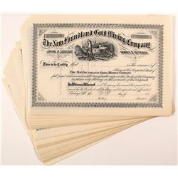 New Foundland Gold Mining Company Stock Certificates (34)