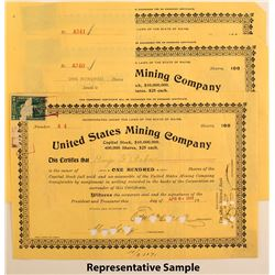 United States Mining Company Stock Certificates (22)