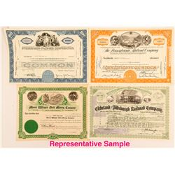 100 Stock Certificates and Receipts