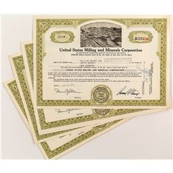 United States Milling and Minerals Corporation Certificates (18)