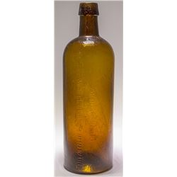 Blue Lick Springs Amber Mineral Water Bottle