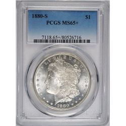 1880-S MORGAN DOLLAR, PCGS MS-65+