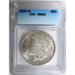 1897-O MORGAN DOLLAR, ICG MS-62