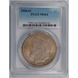 1904-O MORGAN DOLLAR, PCGS MS-64