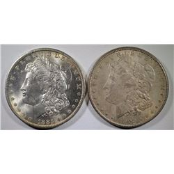 1885-O & 1902-O MORGAN DOLLARS CHOICE BU+