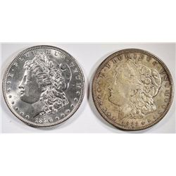 1896 & 1921-D MORGAN DOLLARS CHOICE BU