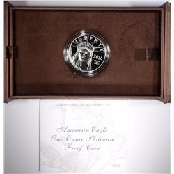 2016 ONE OUNCE PLATINUM EAGLE, ORIG BOX/COA